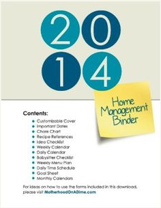 Free 2014 Home Management Binder Printables - Money Saving Mom®