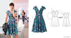 104 Kleid Burda, 05/2014  Seidenstoff 3,15m bei 1,40breite Vlieseline und 1Nahtreißverschluß 60cm
