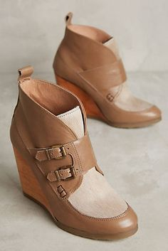 8cac41e7292 Cubanas Melody Wedge Booties Slouchy Ankle Boots