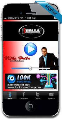 New radio application for Mike Holla (iholla radio) in USA