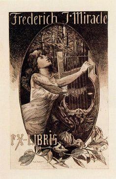 Alexandre de Riquer - Ex-libris Frederich J. Miracle