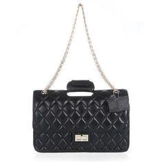 Chanel Classic Flap Bag 8007 Black Lambskin