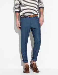 PLEATED TROUSERS - Trousers - Man - ZARA