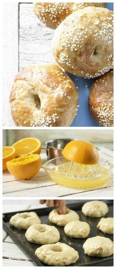 Die Teigkringel werden vor dem Backen portionsweise für etwa 1 Minute in heißes Zucker-Natronwasser gegeben: Aprikosen-Bagels mit Amaranth | http://eatsmarter.de/rezepte/aprikosen-bagels