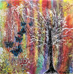 NEW PAINTING  Raimbow II  30x30 cm  My website: https://artbylonfeldt.dk/  #art #arts #paintings #painting #fineart #artbylonfeldt
