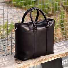 Custom Made Casual Tote in Black Painted Calf From Robert August. Create your own custom designed shoes. Calf Leather, Leather Bag, Custom Design Shoes, Minimalist Fashion, Minimalist Style, Black Fabric, Designer Shoes, Custom Made, Calves