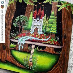 Instagram media desenhoscolorir - Um dos mais lindos dessa página! By @sundaymorningcreations #florestaencantada #enchantedforest #jardimsecreto #secretgarden #johannabasford #desenhoscolorir