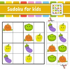 Sudoku for kids education developing worksheet vector Maze Games For Kids, Educational Games For Kids, Indoor Activities For Kids, Puzzles For Kids, Worksheets For Kids, Sudoku Puzzles, Word Puzzles, Kids Vector, Free Preschool