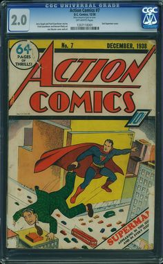 We just unearthed this never-before-offered copy of Action Comics #7. Only the second time Superman appeared on a comic book cover. We paid $40,000 for this book. What do YOU have in the attic or basement?