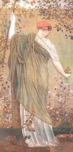 A Garden by Albert Moore