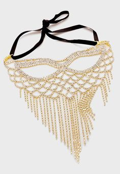 Gold crystal rhinestone cat eye fringe mask. #iceit #bling #sexy #masquerade