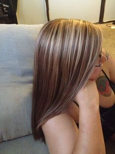 Gorgeous cherry brown with little blonde highlights.