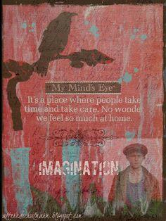 Altered Schoolmarm: Imagination - Altered Book Page