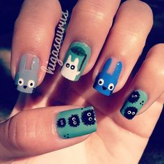 manicure - if you know why I would choose this odd form of Nail Art. then you know me VERY well and I love you! Love Nails, How To Do Nails, Pretty Nails, Funky Nails, New Nail Trends, Animal Nail Art, Nagellack Trends, Instagram Nails, Manicure E Pedicure
