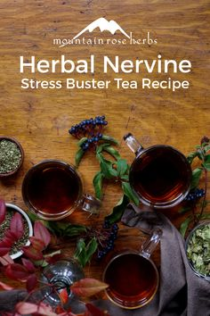 3 tea recipes for stress management include ingredients like catnip, skullcap, hops flowers, and chamomile. Ayurvedic Healing, Holistic Healing, Ayurveda, Moon Milk Recipe, Good Morning Tea, Mountain Rose Herbs, Tea Blends, Herbal Medicine, Natural Medicine