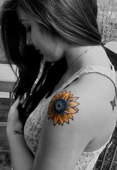 "Sunflower Tattoo ""Avidity"" wrist tattoo - means eager for success, or to be avid"