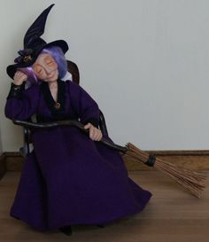 Penelope Periwinkle the Witch handsculpted by JendlewickDolls.  MY FAVORITE!!!!