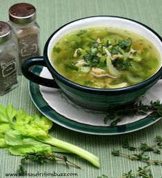 Chicken Leek Soup with Spinach-ah, such simple and healthy soup. :) I would put less coconut oil in it next time.