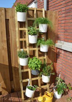 Simpel idee voor een kruidentuin!