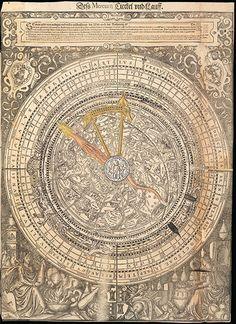 Calculating Celestial Movement, watch how these volvelles rotate on your desktop computer Christian Mysticism, Alchemy Art, Renaissance Art, Sacred Geometry, Constellations, Original Artwork, Movement Watch, Celestial, February 12