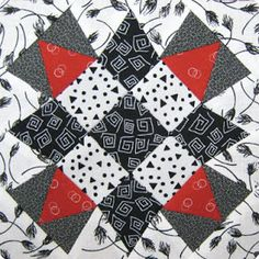 From Marti Michell Quilting Blog: Chart 69: Carolina, Block #19 in the Farmer's Wife 1930s Sew Along
