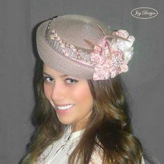 Lovely LISSA #joydesigninc #joydesign #vintage #pink #pillbox #hat #jackieo #style