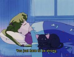 Sailor Moon and Luna Sailor Moon Aesthetic, Aesthetic Anime, Fanarts Anime, Manga Anime, Sailor Moon Quotes, Namaste, Saylor Moon, Chibi, Sailor Moon Wallpaper