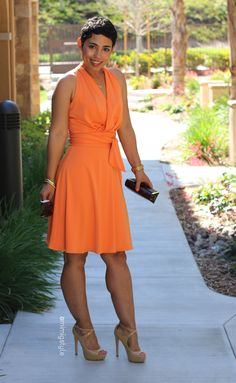 Fashion, Lifestyle, and DIY: DIY Peach Dress + Pattern Review B5886