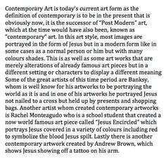 200 word description Jesus Artwork, Postmodernism, Art Forms, Modern Contemporary, Image, Post Modern History, Postmodern Literature