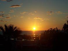 Sunrise outside our RV window in MX