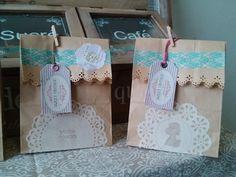 Bolsas de papel craft que realizamos para cualquier evento.. aquí en sweet vintage.. merida yuc. México.