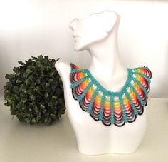 ANNCESTRAL Woven Necklace by AnncestralHandmade on Etsy