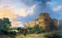 Painting of Burgh Castle by J. Crome - displayed at Time&Tide Museum, Great Yarmouth Norwich School, Norwich Castle, Museum Art Gallery, Time And Tide, Great Yarmouth, Uk History, Art Uk, Your Paintings, Norfolk