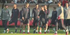 reaction football soccer training roma as roma calcio practice joking dzeko allenamento edin dzeko via diggita