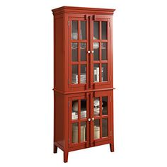 Glass Door Red Cabinet at Big Lots. I WANT THIS :0)