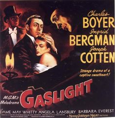 Love the premise of the movie and the way that the suspense creeps up on you, until you're nearly as freaked out as the movie's heroine.  Plus Ingrid Bergman's complexion is somehow hypnotic - I just can't look away.
