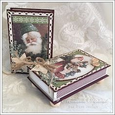 Today I have decorated two matchboxes with some Pion products: The Night before Christmas Small Christmas Gifts, Christmas Card Crafts, Vintage Christmas, Christmas Decorations, Diy And Crafts, Paper Crafts, Christopher Radko Ornaments, Matchbox Art, The Night Before Christmas