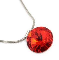 Přívěsek Swarovski Elements Rivoli 339fx1122-14-20 - červený - Bijoux Me! - bižuterie, šály a šátky Swarovski, Pendant Necklace, Jewelry, Jewelery, Jewellery Making, Jewerly, Jewels, Jewlery, Fine Jewelry