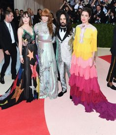 Charlotte with Dakota Johnson, Florence Welch and Alessandro Michele.