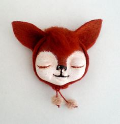 Fox brooch by Yalipaz - Art and accessories, via Flickr
