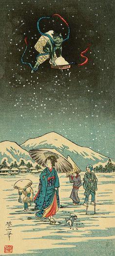 Artist: Unknown Title: Snow Demon, 1930's.