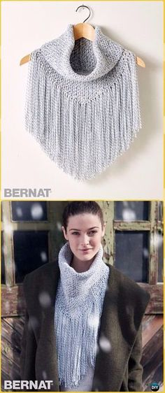 Crochet Cozy Fringed Cowl Free Pattern &Video - Crochet Infinity Scarf Free Patterns