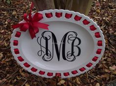 Smarty Pants Boutique Ribbon Plates by SmartyPantsBoutique on Etsy, $40.00
