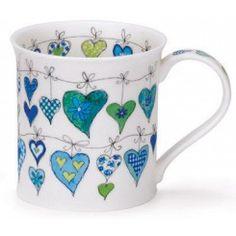 Heartstrings Blue Bute shape Mug