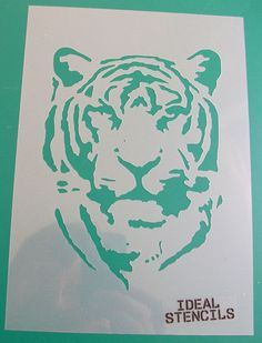 Tiger stencil Ideal Stencils Art and home décor by IdealStencils