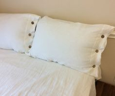 New to CustomLinensHandmade on Etsy: Linen Duvet Cover with Wood Button Closure - Pick your color Washed linen Soft linen queen duvet cover king duvet cover linen bedding (171.00 USD)