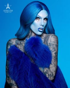 The official online store for all things Jeffree Star Cosmetics, Inc. Jeffree Star Instagram, Jeffree Star Tattoos, Diy Lipstick, J Star, Queen Makeup, Star Makeup, Muse Art, Blue Bloods, Blue Makeup