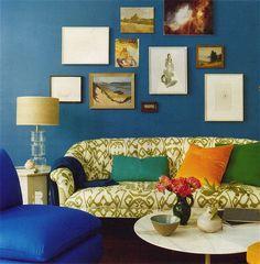 Синий цвет в интерьере, фото Domino