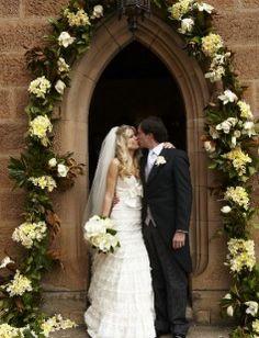 #wedding #church #flowers