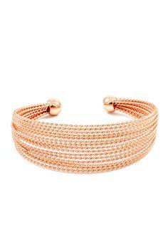 River Cuff Bracelet in Rose